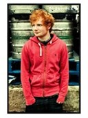 Gloss Black Framed Red Sweater Ed Sheeran