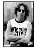 Gloss Black Framed Lennon In New York John Lennon