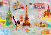Around the World Cultural Collage