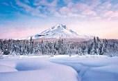 Mountain Serenity Snowy Peaks