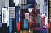 Colourful Skyscrapers Metropolitan Montage