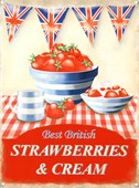 Best of British Strawberries and Cream