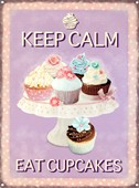 Keep Calm Eat Cupcakes Tasty Treats