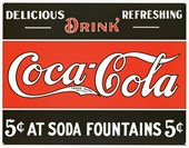 At Soda Fountains Coca Cola