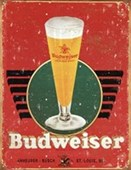 Retro Glass & Logo Budweiser