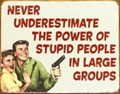 Stupid People in Large Groups Retro Comedy