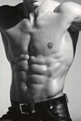 Tantalising Torso Buff in Black and White