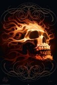 Flaming Skull Fiery Fantasy