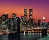 Brooklyn Bridge at Dusk New York City