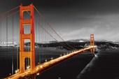 A Glowing Golden Gate Bridge San Francisco