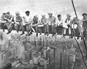 Iconic Vintage New York Scene Men on a Girder