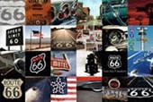 Route 66 Collage Memorabilia Montage