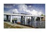 The Railway Bridge at Argenteuil Claude Monet