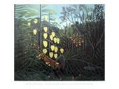Combat between a Tiger and Buffalo Henri Rousseau