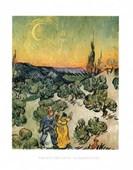 Evening Promenade Vincent Van Gogh