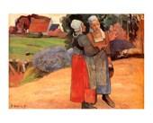 Paysannes Bretonnes Paul Gauguin