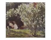 Roses (The Artist's Wife In The Garden At Skagen) Peder Severin Kroyer
