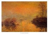 The Sunset at Lavacourt Claude Monet