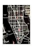 New York City Map Tom Fraizer