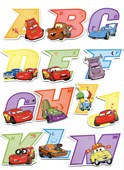 Fun and Funky Cars 3D Alphabet Stickers Cars:The Movie