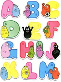 Barbapapa 3D Alphabet Stickers Barbapapa