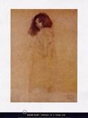 Portrait of a Young Girl Gustav Klimt
