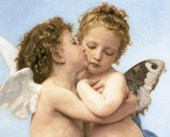 The First Kiss (detail), 1873 William Adolphe Bouguereau