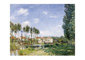 Moret, On the Banks of the  Loing Alfred Sisley