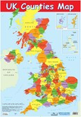 UK Counties Map Educational Map