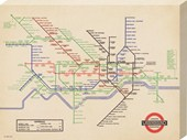 Vintage London Underground Map, 1936 London Transport