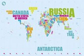 The World in Words Alternative Map of the World