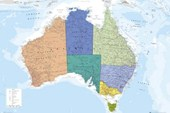 The World's Smallest Continent Map Of Australia
