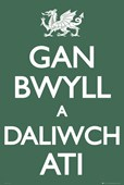 Gan Bwyll a Daliwch Ati Welsh Keep Calm and Carry On