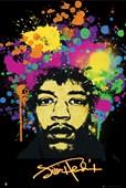 Technicolour PopArt Portrait Jimi Hendrix