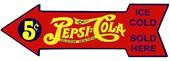Drink Delicious, Healthful Pepsi-Cola Pepsi Cola, Sold Here