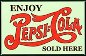 Enjoy A Refreshing Drink Pepsi Cola, Sold Here
