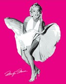 Shocking Pink Marilyn Marilyn Monroe in The Seven Year Itch