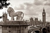 Lion By Big Ben Iconic London Sights