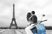 Scooter Love Romance in Paris