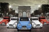 2CV's at The Arc de Triomphe Paris