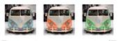 Camper Van in Triplicate Volkswagen Camper Van
