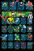 Ultimate Alien Character Collage Ben 10
