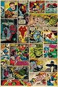 Comic Collage Marvel Comics