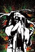 Rasta Splatter Bob Marley