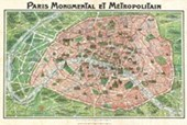 Art Nouveau Paris Paris Map 1920's