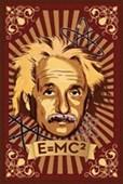 E = MC Squared Albert Einstein Mural