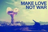 Make Love, Not War Hippie Motto