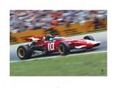 Ickx Race Ferrari F1 Vintage