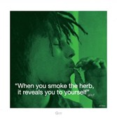 When you smoke the herb... Bob Marley