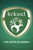 The Boys in Green Ireland Football Team Logo